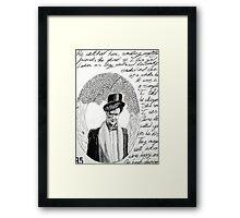 Story Series #3: A Wedding Framed Print