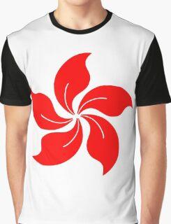 Oriental Flower Graphic T-Shirt