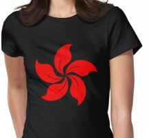 Oriental Flower Womens Fitted T-Shirt