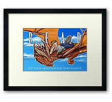 Imagination Take Flight Framed Print