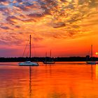 3 Sailboat Sunrise by KellyHeaton