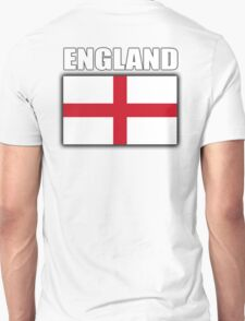 England, English Flag, Soccer, Football, Flag of St George, Cross of St George, Englander, English, Pure & simple Unisex T-Shirt