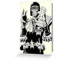 Judge Death Greeting Card