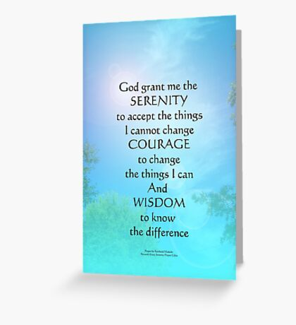 Serenity Prayer September Sky Greeting Card