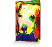 Color Me dog 1  Pit Bull puppy  contemporary art Greeting Card