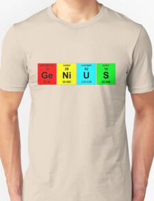 Chemistry Genius (periodic table)  t-shirt and sticker T-Shirt