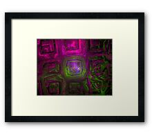 squares fractal art Framed Print
