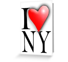 I LOVE, NEW YORK, NY, New York City, City of New York, America, American, USA Greeting Card