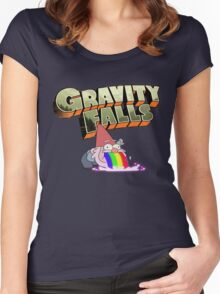gravity falls gnome puke Women's Fitted Scoop T-Shirt