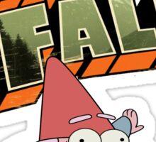 gravity falls gnome puke Sticker