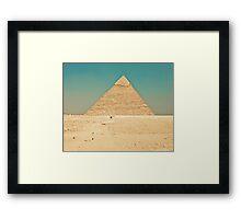 Pyramid of Giza Framed Print