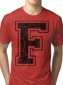 F - the Letter Tri-blend T-Shirt