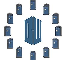 Dr. Who - Tardis & Logo - To realize a clock by Bastien13