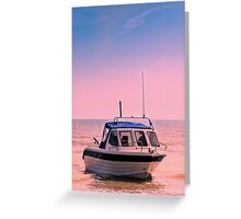 Leisure boat Greeting Card