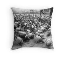 Feeding time! Throw Pillow