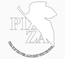 Pizzavangelion Team Shirt White Logo by BrianHoover156
