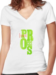 One Word: Process Women's Fitted V-Neck T-Shirt