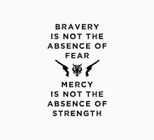 Bravery & Mercy - English Black Unisex T-Shirt