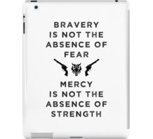 Bravery & Mercy - English Black iPad Case/Skin