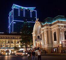 Vietnam. Ho Chi Minh City (Saigon). Opera House at Night. by vadim19
