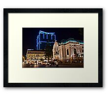 Vietnam. Ho Chi Minh City (Saigon). Opera House at Night. Framed Print