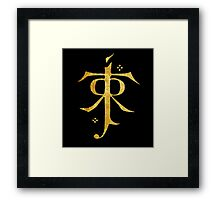 Lord of the Rings Symbol Framed Print