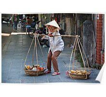 Vietnam. Hoi An. Street Vendor. Poster