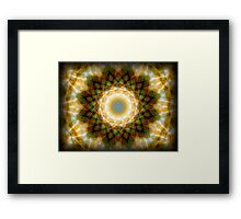 ©DA Neon Fractal V Framed Print