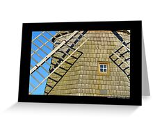 Historic Old Windmill Building Detail - Water Mill, New York Greeting Card