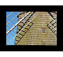 Historic Old Windmill Building Detail - Water Mill, New York Photographic Print