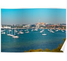 Modelling Geelong - Boats On A Bay Poster