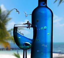 Sea bottle  by Lewchew