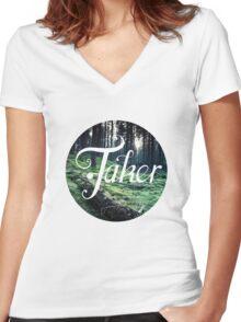 BlueFakerForest Women's Fitted V-Neck T-Shirt