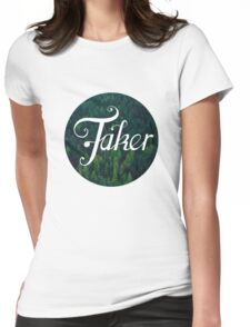 BlueFakerForest No3 Womens Fitted T-Shirt