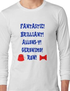 Doctor Who Catchphrases Long Sleeve T-Shirt
