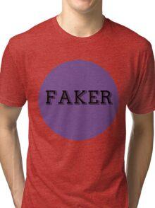 FakerBlueCircle Tri-blend T-Shirt