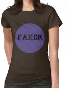 FakerBlueCircle Womens Fitted T-Shirt
