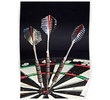 3 of a Kind or Bulls Eye Poster