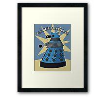 Blue Kitty Dalek Framed Print