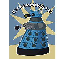 Blue Kitty Dalek Photographic Print