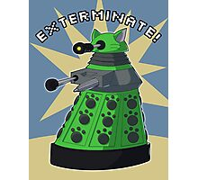 Green Kitty Dalek Photographic Print