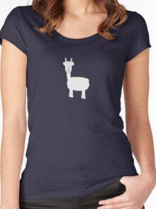 White Alpaca Women's Fitted Scoop T-Shirt