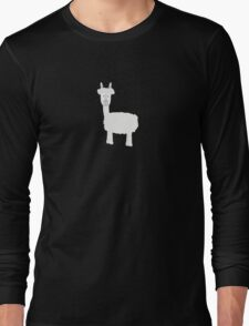 White Alpaca Long Sleeve T-Shirt