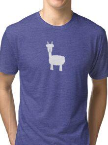 White Alpaca Tri-blend T-Shirt