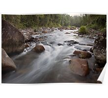 Morning at Cochable Creek - Tully Gorge, Far North Queensland. Poster