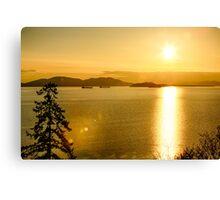Samish Bay Sunset Canvas Print