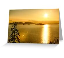 Samish Bay Sunset Greeting Card