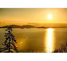 Samish Bay Sunset Photographic Print
