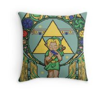 Link's Art Nouveau Throw Pillow