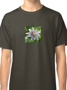 Passiflora Against Green Foliage In A Garden Classic T-Shirt